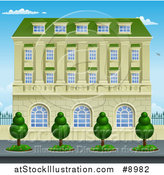 Vector Illustration of a Victorian or Georgian Building or Mansion by AtStockIllustration
