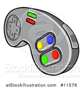 Vector Illustration of a Video Game Controller by AtStockIllustration