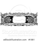 Vector Illustration of a Vintage Black and White Rococo or Baroque Horizontal Frame by AtStockIllustration
