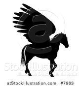 Vector Illustration of a Walking Winged Pegasus Horse by AtStockIllustration
