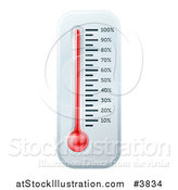 Vector Illustration of a Wall Thermometer or Fundraiser Chart by AtStockIllustration