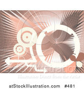 Vector Illustration of a White, Gray and Pink Internet Background by AtStockIllustration