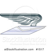Vector Illustration of a Winged Envelope Flying by AtStockIllustration