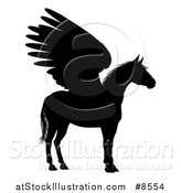 Vector Illustration of a Winged Pegasus Horse in Profile by AtStockIllustration