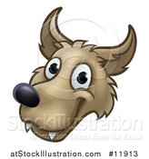 Vector Illustration of a Wolf Face Mascot from the Three Little Pigs Story by AtStockIllustration