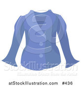 Vector Illustration of a Woman's Blue Jacket by AtStockIllustration