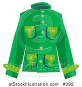 Vector Illustration of a Woman's Green Coat by AtStockIllustration