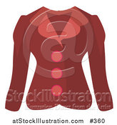 Vector Illustration of a Woman's Red Button up Jacket by AtStockIllustration