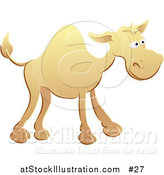 Vector Illustration of a Yellow Camel by AtStockIllustration