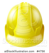 Vector Illustration of a Yellow Contractor Hard Hat by AtStockIllustration
