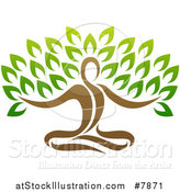 Vector Illustration of a Yoga Man Tree by AtStockIllustration