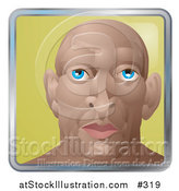 Vector Illustration of a Young Muscular Bald Man by AtStockIllustration