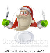 Vector Illustration of a Young Santa Claus Ready for Dinner by AtStockIllustration