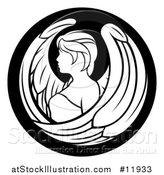 Vector Illustration of a Zodiac Horoscope Astrology Virgo Circle Design in Black and White by AtStockIllustration