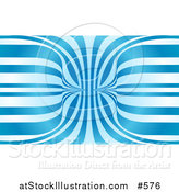 Vector Illustration of an Abstract Blue and White Background by AtStockIllustration