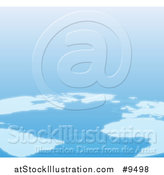 Vector Illustration of an Aerial View of Continents on Planet Earth by AtStockIllustration