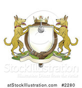 Vector Illustration of an Alsatian Coat of Arms Shield with a Collar by AtStockIllustration
