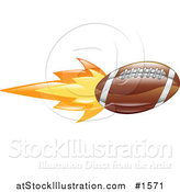 Vector Illustration of an American Football on Fire by AtStockIllustration