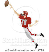 Vector Illustration of an American Football Player by AtStockIllustration
