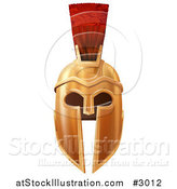 Vector Illustration of an Ancient Bronze Corinthian or Spartan Helmet by AtStockIllustration