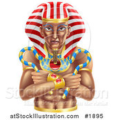 Vector Illustration of an Ancient Egyptian Pharaoh by AtStockIllustration