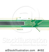 Vector Illustration of an Green and Yellow Circuit Board by AtStockIllustration