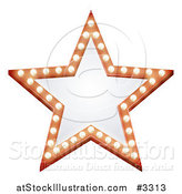 Vector Illustration of an Illuminated Star Sign by AtStockIllustration
