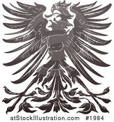 Vector Illustration of an Imperial Eagle Design by AtStockIllustration