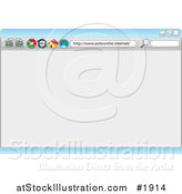 Vector Illustration of an Internet Browser Background with a Search Box and Icons by AtStockIllustration