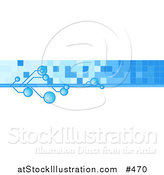 Vector Illustration of an Internet Web Banner with Blue Bubbles and Tiles by AtStockIllustration