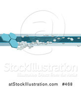 Vector Illustration of an Internet Web Banner with Blue Octagons by AtStockIllustration