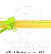 Vector Illustration of an Internet Web Banner with Green Cubes and Orange Lines by AtStockIllustration