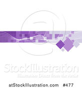 Vector Illustration of an Internet Web Banner with White Line and Purple Squares by AtStockIllustration