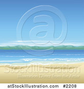 Vector Illustration of an Ocean Landscape with White Sand by AtStockIllustration