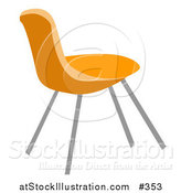 Vector Illustration of an Orange Chair by AtStockIllustration