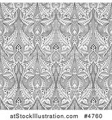 Vector Illustration of an Ornate Gray Seamless Islamic Pattern Background by AtStockIllustration