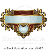 Vector Illustration of an Ornate Red and Gold Frame with Copyspace by AtStockIllustration
