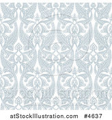 Vector Illustration of an Ornate Seamless Art Nouveau Pattern Background by AtStockIllustration