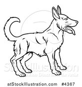 Vector Illustration of an Outlined Chinese Zodiac Dog by AtStockIllustration