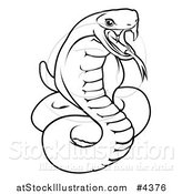 Vector Illustration of an Outlined Chinese Zodiac Snake by AtStockIllustration