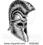 Vector Illustration of Ancient Greek Spartan Warrior Gladiator Helmet by AtStockIllustration