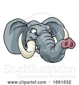 Vector Illustration of Angry Elephant Animal Sports Mascot by AtStockIllustration