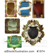 Vector Illustration of Antique and Retro Styled Ornate Frame Designs by AtStockIllustration