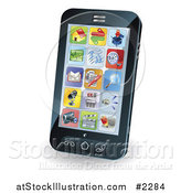 Vector Illustration of App Icons on a Smart Phone by AtStockIllustration