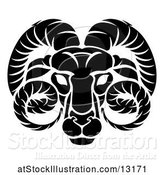 Vector Illustration of Aries Ram Zodiac Horoscope Astrology Sign by AtStockIllustration