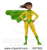 Vector Illustration of Asian Super Hero Lady by AtStockIllustration