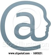 Vector Illustration of at Symbol Face Concept by AtStockIllustration