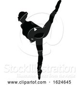 Vector Illustration of Ballet Dancer Dancing Silhouette by AtStockIllustration