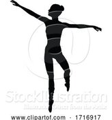 Vector Illustration of Ballet Dancer Silhouette by AtStockIllustration