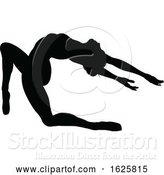 Vector Illustration of Ballet Dancer Silhouette Set by AtStockIllustration